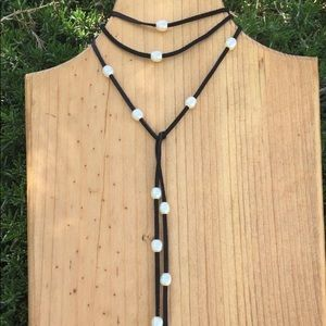 NWOT BAROQUE PEARL LARIAT NECKLACE